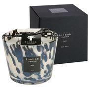 Baobab - Pearls Black Candle 10cm