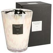 Baobab - Pearls White Candle 24cm