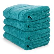Sheridan - Trenton Teal Bath Towel Set Of 4