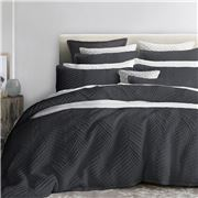 Private Collection - Tux Charcoal Super King Quilt Cover Set