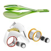Zyliss - Clip 'n Serve Salad Servers & All Cheese Grater Set
