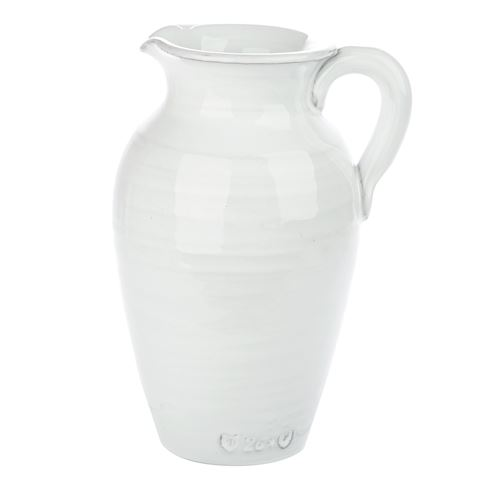 virginia casa galestro white conical vase w handles. Black Bedroom Furniture Sets. Home Design Ideas