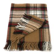Bronte - Highland Tweeds Camel Stewart Tartan Knee Rug