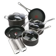 Tefal - Jamie Oliver New Wave Anodised Cookware & Grater Set