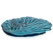 Hudson Beach Glass - Jewel Sapphire Sea Fan Platter