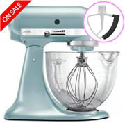 KitchenAid - Platinum KSM170 Azure Blue Mixer w/ Bonus
