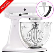 KitchenAid - Platinum KSM170 Frosted Pearl Mixer w/ Bonus