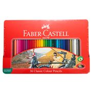 Faber-Castell - Classic Colour Pencils Tin Set 36pce