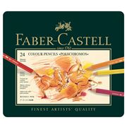 Faber-Castell - Polychromos Colour Pencil Tin Set 24pce