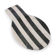 Old Hollywood -  Black & White Striped Marble Spoon Rest