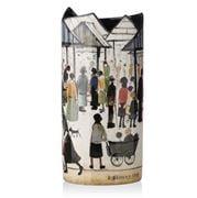 Silhouette d'Art - Lowry Market Scene Vase
