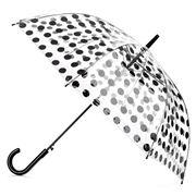 Clifton - Polka Dot Automatic Black Umbrella
