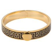 Halcyon Days - Greek Key Black & Gold Bangle