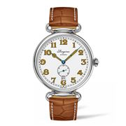 Longines - Heritage 1918 White Dial Brown Strap Watch