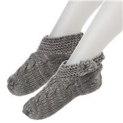 AT - Slouchy Grey Slippers