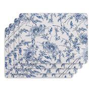 Ashdene - Indigo Blue Hummingbird Placemat Set 4pce