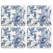 Ashdene - Indigo Blue Hummingbird Coaster Set 4pce
