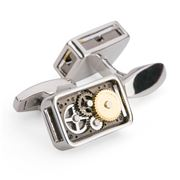 Onyx-Art - Rectangular Gear Cufflinks