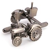 Onyx-Art - Burnished Silver Tractor Cufflinks