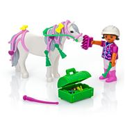 Playmobil - Groomer With Heart Pony