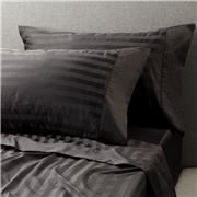 Davinci - Striped Sateen Cotton Granite King Sheet Set