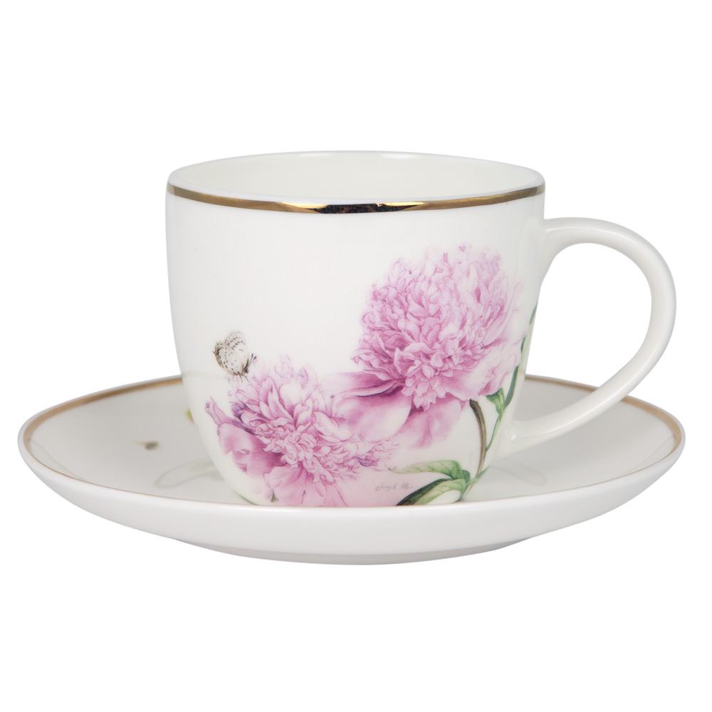 2fc4733304 Ashdene - Pink Peonies Cup & Saucer | Peter's of Kensington