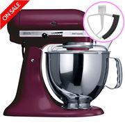 KitchenAid - Artisan KSM150 Boysenberry Mixer + Flex Beater