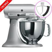 KitchenAid - Artisan KSM150 Contour Silver Mixer/Flex Beater