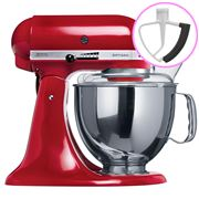 KitchenAid - Artisan KSM150 Empire Red Mixer + Flex Beater