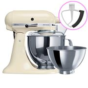 KitchenAid - Artisan KSM160 Almond Stand Mixer + Flex Beater