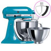 KitchenAid - Artisan KSM160 Crystal Blue Mixer + Flex Beater