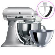 KitchenAid - Artisan KSM160 Contour Silver Mixer/Flex Beater