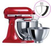 KitchenAid - Artisan KSM160 Empire Red Mixer + Flex Beater