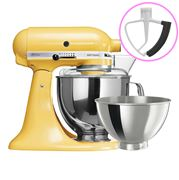 KitchenAid - Artisan KSM160 Majestic Yellow Mixer+FlexBeater