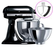 KitchenAid - Artisan KSM160 Onyx Black Mixer + Flex Beater