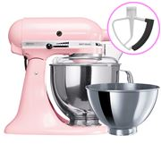 KitchenAid - Artisan KSM160 Pink Mixer + Flex Beater