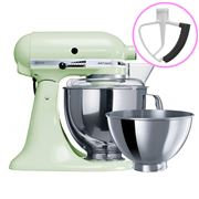 KitchenAid - Artisan KSM160 Pistachio Mixer + Flex Beater