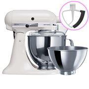 KitchenAid - Artisan KSM160 White Mixer + Flex Beater