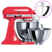 KitchenAid - Artisan KSM160 Watermelon Mixer + Flex Beater