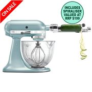 KitchenAid - Platinum KSM170 Azure Blue Mixer w/ Spiraliser