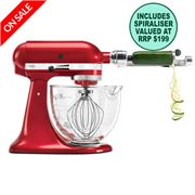 KitchenAid - Platinum KSM170 Candy Apple Mixer w/ Spiraliser
