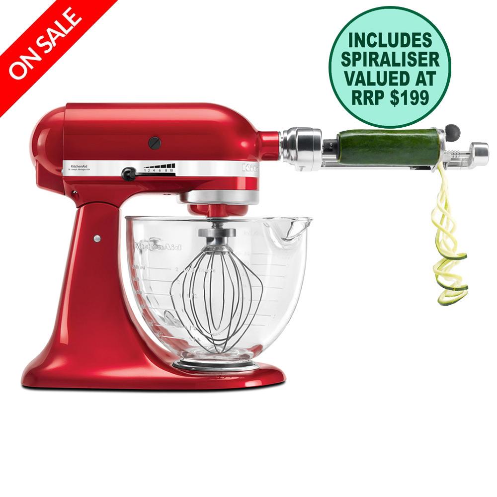 KitchenAid - Platinum KSM170 Candy Apple Mixer w/ Spiraliser ...