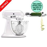 KitchenAid - Platinum KSM170 Frosted Pearl Mixer Spiraliser