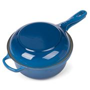 Le Creuset - Marse. Blue Signature Cast Iron 2-in-1 Pan 22cm