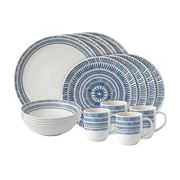 Royal Doulton - Ellen Degeneres Chevron Set Dark Blue 16pce