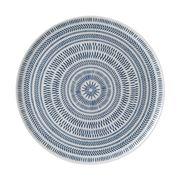 Royal Doulton - Ellen Degeneres Chevron Platter 32cm D.Blue