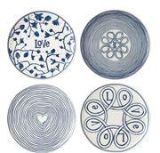 Royal Doulton - Ellen Degeneres Blue Love Plates 21cm 4pce