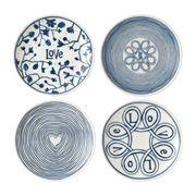 Royal Doulton - Ellen Degeneres Blue Love Plates 16cm 4pce