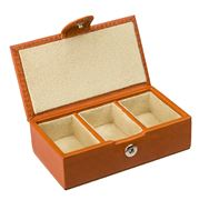 Redd Leather - Cognac Tan Leather Small Cufflink Box