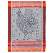 Garnier-Thiebaut - Cocorico Design Orange Tea Towel